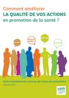 INPES. Comment améliorer la qualité de vos actions en promotion de la santé ? Guide d' autoévaluation construit par et pour des associations (Septembre 2009) [pdf]  - image/jpeg